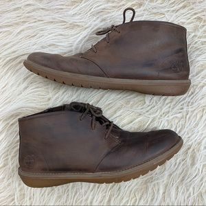 Timberland leather chukka boots shoes casual 9.5